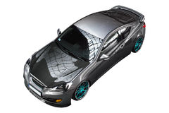 Isolated tuned car, Hyundai Genesis Coupe Royalty Free Stock Photo