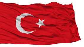 Isolated Turkey Flag. Waving on White Background, High Resolution stock photo