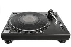 Isolated turntable vinyl record player Stock Images