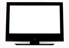 Isolated TV. Empty LCD TV isolated W/PATH Royalty Free Stock Image