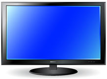 Isolated TV plasma screen Stock Images