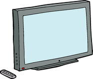 Isolated TV with Remote Stock Photography