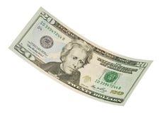 Isolated Twenty Dollar Bill. American twenty dollar bill isolated on white Stock Images