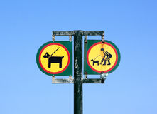 Isolated Twin Sign On Entrance to Beach Royalty Free Stock Photography