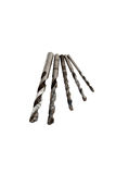 Isolated twist drill bits Royalty Free Stock Photo