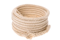 Isolated Twisted thick rope Royalty Free Stock Photo