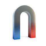 Isolated two-colored magnet Royalty Free Stock Images