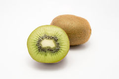 Isolated two Kiwi fruits Royalty Free Stock Photography