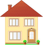 Isolated two storey cottage Stock Image