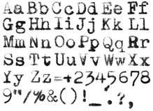 Isolated typewriter alphabet Stock Images