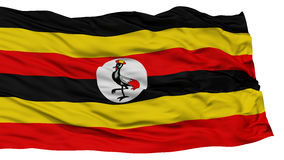 Isolated Uganda Flag Royalty Free Stock Photography