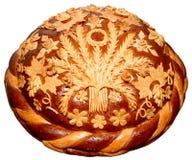 Isolated Ukrainian festive bakery Holiday Bread 11. Isolated Ukrainian festive bakery Holiday Bread absolutely handmade Royalty Free Stock Image