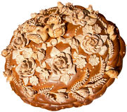 Isolated Ukrainian festive bakery Holiday Bread 8. Isolated Ukrainian festive bakery Holiday Bread absolutely handmade Royalty Free Stock Image