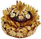 Isolated Ukrainian festive bakery Holiday Bread 9. Isolated Ukrainian festive bakery Holiday Bread absolutely handmade Royalty Free Stock Images