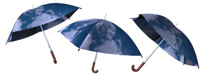 Isolated umbrellas Royalty Free Stock Photo