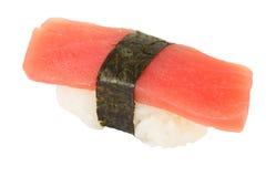 Isolated una nigiri. On white background isolated tuna sushi nigiri Royalty Free Stock Photos