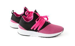 Isolated jogging shoes. Isolated unisex modern style jogging shoes Stock Photography