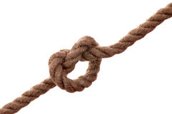 Isolated unit of rope. Royalty Free Stock Photography