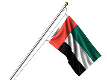 Isolated United Arab Emirates Flag Royalty Free Stock Images