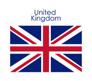 Isolated united kingdom flag design. United kingdom flag icon. Europe nation and government theme. Isolated design. Vector illustration Stock Photo