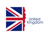 Isolated united kingdom flag design. United kingdom flag icon. Europe nation and government theme. Isolated design. Vector illustration Stock Image