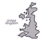 Isolated united kingdom map design. United kingdom map icon. Europe nation and government theme. Silhouette design. Vector illustration Royalty Free Stock Image