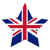 Isolated united kingdom star design Stock Photography