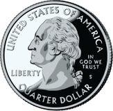 Isolated United States Quarter - vector illustrat
