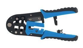Isolated universal crimping tool. Crimper Stock Photos