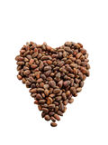 Isolated unshelled pine nuts in form of heart Stock Images