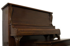 Isolated Upright Piano stock image