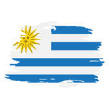 Isolated Uruguayan flag Royalty Free Stock Images