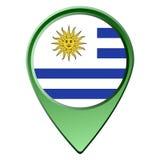Isolated Uruguayan flag Royalty Free Stock Photography