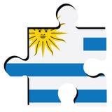 Isolated Uruguayan flag Royalty Free Stock Photos