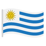 Isolated Uruguayan flag Royalty Free Stock Image
