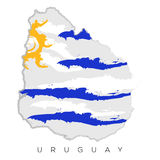 Isolated Uruguayan map Royalty Free Stock Images