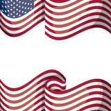 Isolated usa flag design. Usa flag icon. United nation country and american states theme. Isolated design. Vector illustration royalty free illustration