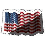 Isolated Usa flag design Stock Photography
