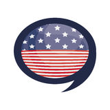 Isolated usa flag inside bubble design Royalty Free Stock Photo