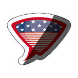 Isolated Usa flag inside bubble design Royalty Free Stock Photography