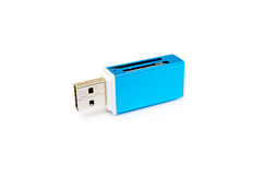 Isolated USB Card Reader Stock Photo