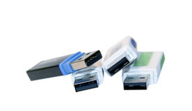 Isolated USB drive stock photography
