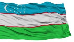 Isolated Uzbekistan Flag Stock Images