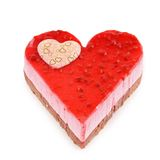 Isolated valentine pastry Royalty Free Stock Image
