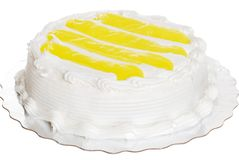 Isolated Vanilla Lemon Cake Stock Photos