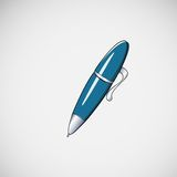 Isolated vector ballpoint pen on light background Royalty Free Stock Photos