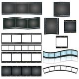 Isolated vector film strip set on white background vector illustration