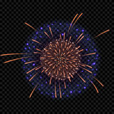 Isolated vector fireworks on transparent background. Vector fireworks on transparent background Royalty Free Stock Photography