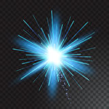 Isolated vector fireworks on transparent background. Celebration, festive Stock Photos
