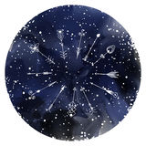 Isolated vector hand drawn arrows on a starry sky stock illustration